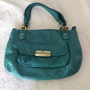 Coach Teal Leather Tote